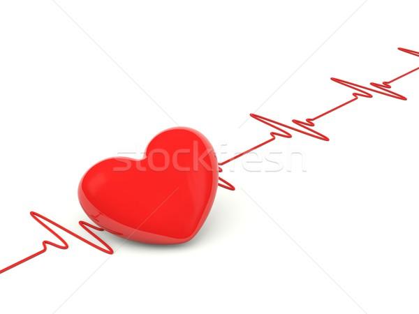 Serca bicie serca odizolowany biały medycznych zdrowia Zdjęcia stock © MikhailMishchenko