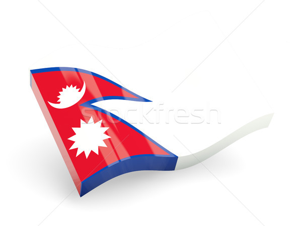 3d flag of nepal Stock photo © MikhailMishchenko