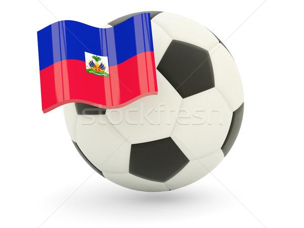 サッカー フラグ ハイチ 孤立した 白 スポーツ ストックフォト © MikhailMishchenko