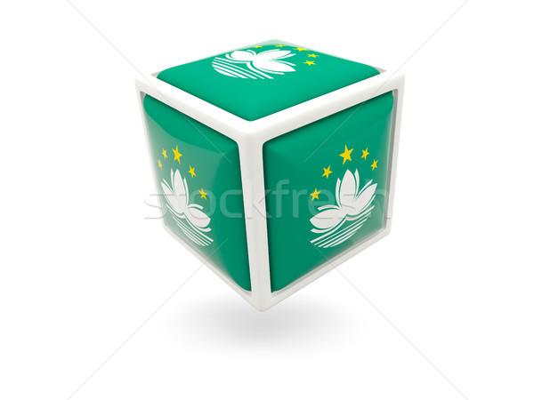 Flag of macao. Cube icon Stock photo © MikhailMishchenko