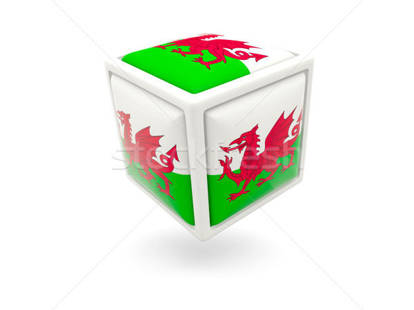 Flag of wales. Cube icon Stock photo © MikhailMishchenko