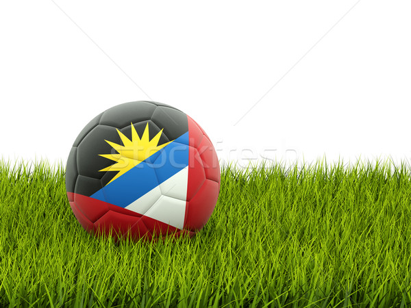 Football with flag of antigua and barbuda Stock photo © MikhailMishchenko