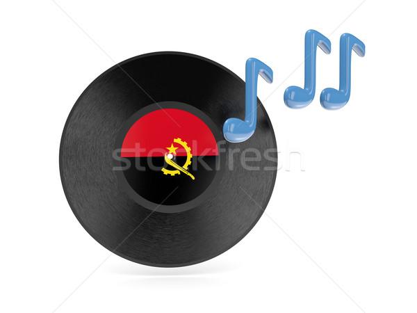 виниловых диск флаг Ангола изолированный белый Сток-фото © MikhailMishchenko