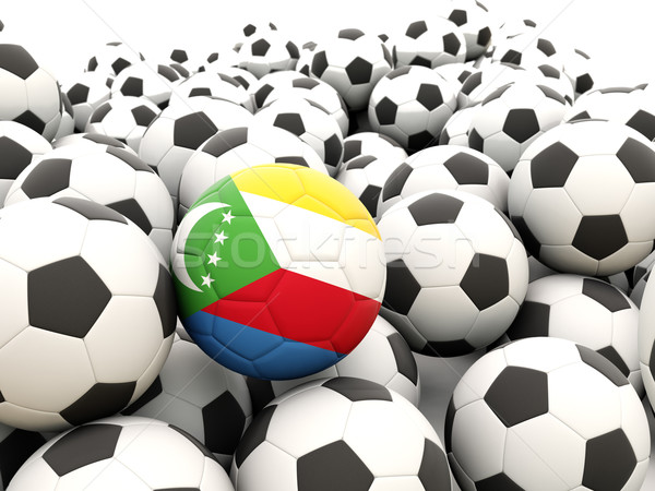 Football with flag of comoros Stock photo © MikhailMishchenko