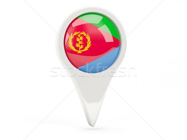 флаг икона Эритрея изолированный белый карта Сток-фото © MikhailMishchenko