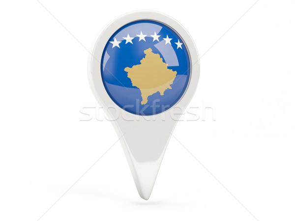 Round flag icon of kosovo Stock photo © MikhailMishchenko
