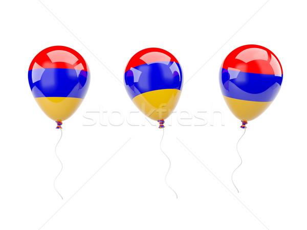 Ar balões bandeira Armênia isolado branco Foto stock © MikhailMishchenko