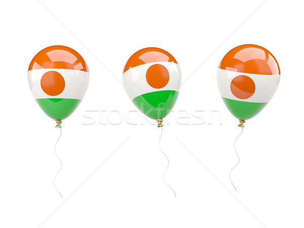 Air balloons with flag of niger Stock photo © MikhailMishchenko