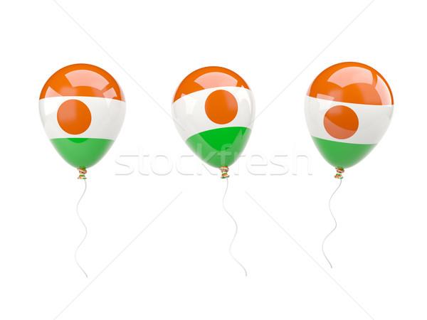 Aire globos bandera Níger aislado blanco Foto stock © MikhailMishchenko