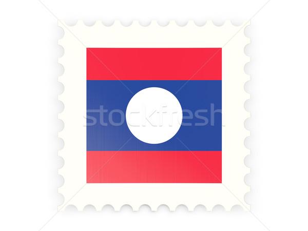 Znaczek pocztowy ikona Laos odizolowany biały podpisania Zdjęcia stock © MikhailMishchenko