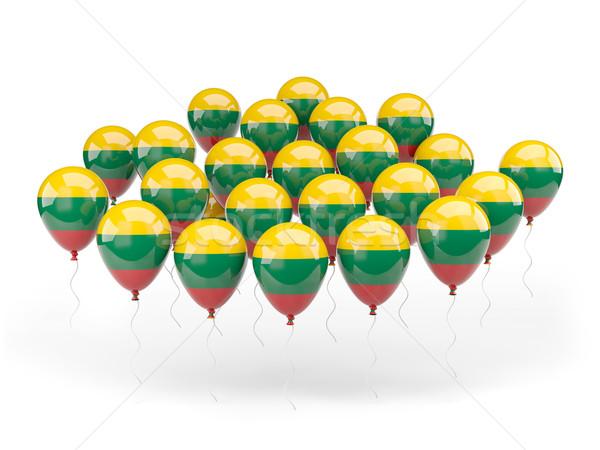 шаров флаг Литва изолированный белый стране Сток-фото © MikhailMishchenko