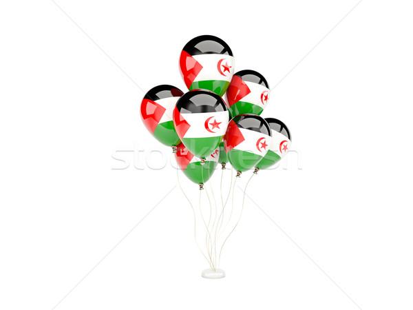 Vuelo globos bandera occidental sáhara aislado Foto stock © MikhailMishchenko