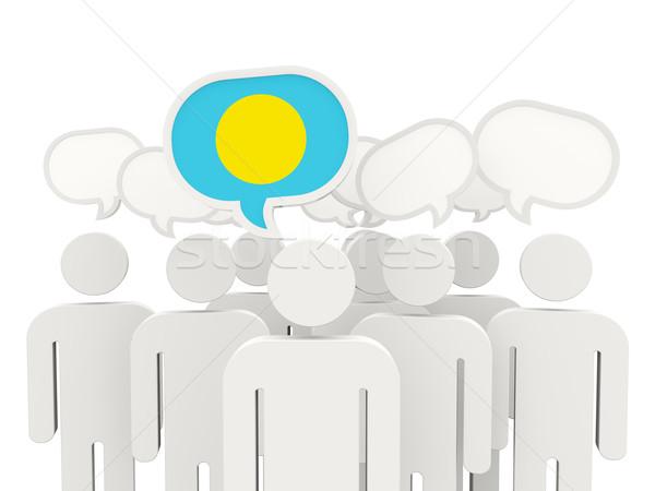 人 フラグ パラオ 孤立した 白 会議 ストックフォト © MikhailMishchenko