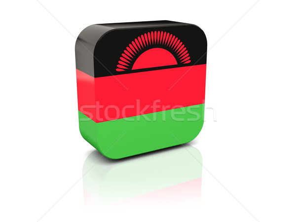 квадратный икона флаг Малави отражение белый Сток-фото © MikhailMishchenko