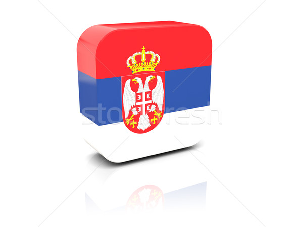 Square icon with flag of serbia Stock photo © MikhailMishchenko