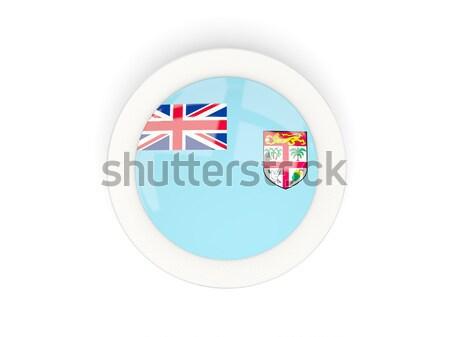 Ikon zászló Fidzsi-szigetek izolált fehér utazás Stock fotó © MikhailMishchenko