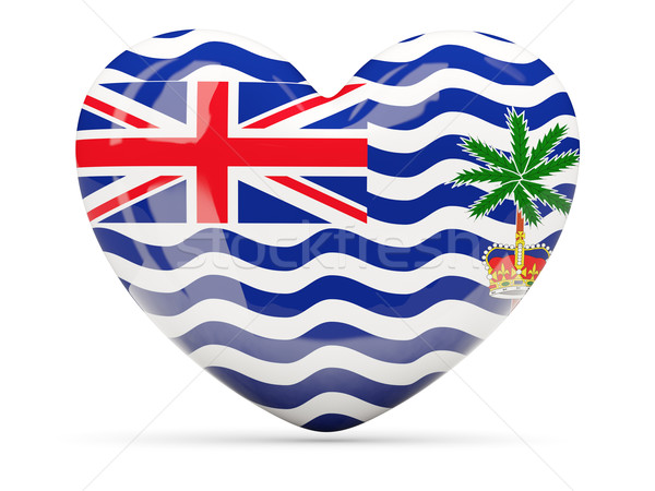 Heart shaped icon with flag of british indian ocean territory Stock photo © MikhailMishchenko