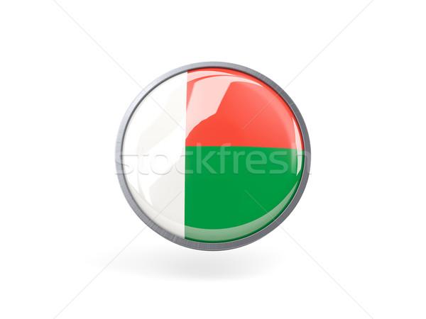 Ikon zászló Madagaszkár fém keret utazás Stock fotó © MikhailMishchenko