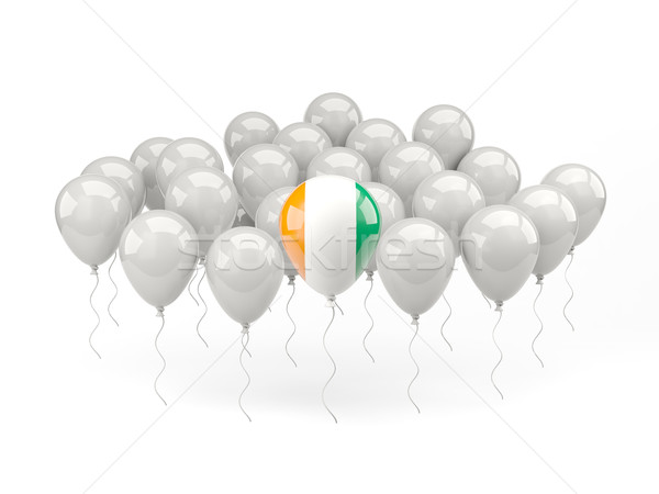 Air balloons with flag of cote d Ivoire Stock photo © MikhailMishchenko