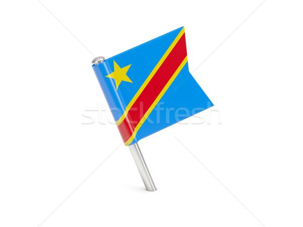Bayrak pin demokratik cumhuriyet Kongo yalıtılmış Stok fotoğraf © MikhailMishchenko