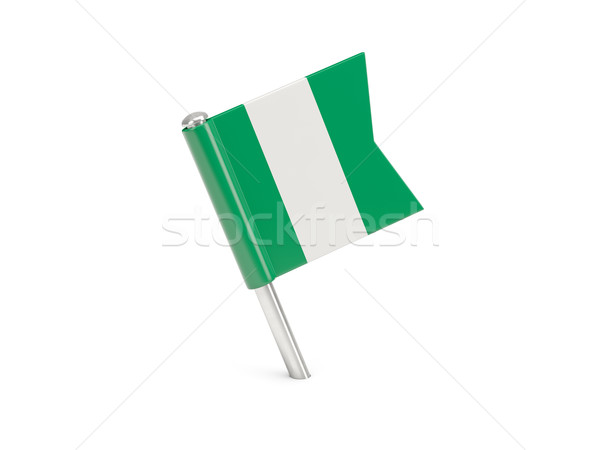 Bayrak pin Nijerya yalıtılmış beyaz Stok fotoğraf © MikhailMishchenko