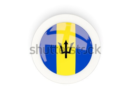 Round sticker with flag of barbados Stock photo © MikhailMishchenko