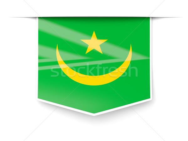 Square label with flag of mauritania Stock photo © MikhailMishchenko
