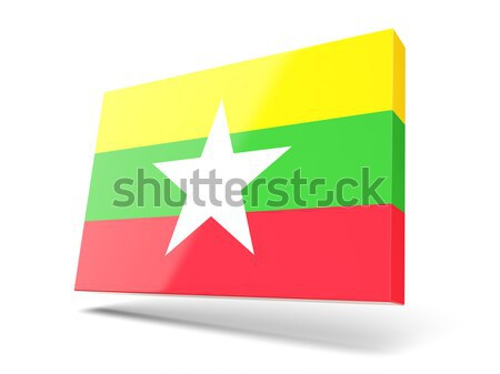 Square label with flag of morocco Stock photo © MikhailMishchenko