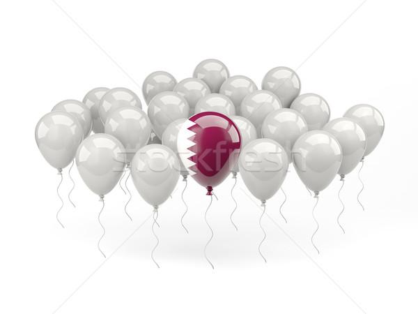 Air balloons with flag of qatar Stock photo © MikhailMishchenko