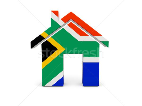 ホーム フラグ 南アフリカ 孤立した 白 国 ストックフォト © MikhailMishchenko