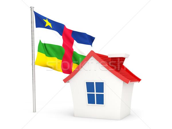 дома флаг центральный африканских республика изолированный Сток-фото © MikhailMishchenko