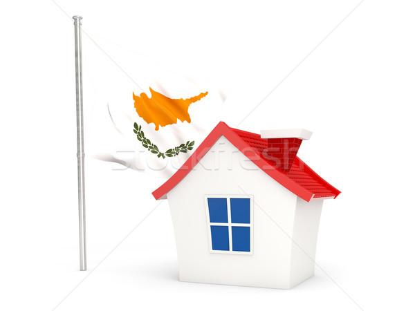дома флаг Кипр изолированный белый домой Сток-фото © MikhailMishchenko