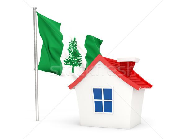 House with flag of norfolk island Stock photo © MikhailMishchenko