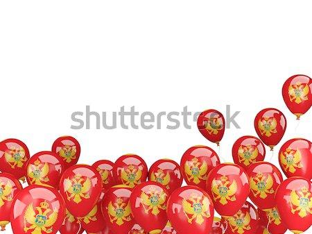 Vliegen ballonnen vlag Portugal geïsoleerd witte Stockfoto © MikhailMishchenko