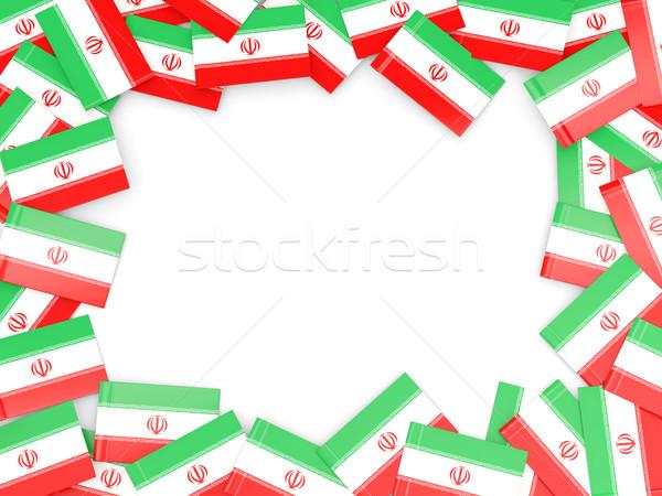 çerçeve bayrak İran yalıtılmış beyaz Stok fotoğraf © MikhailMishchenko