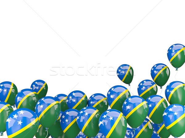 Flying balloons with flag of solomon islands Stock photo © MikhailMishchenko
