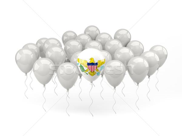 Сток-фото: воздуха · шаров · флаг · США · Виргинские · о-ва · изолированный