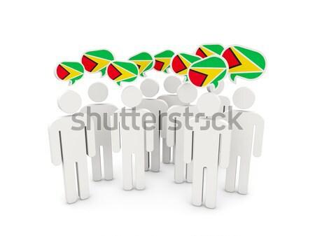 люди флаг Замбия изолированный белый толпа Сток-фото © MikhailMishchenko