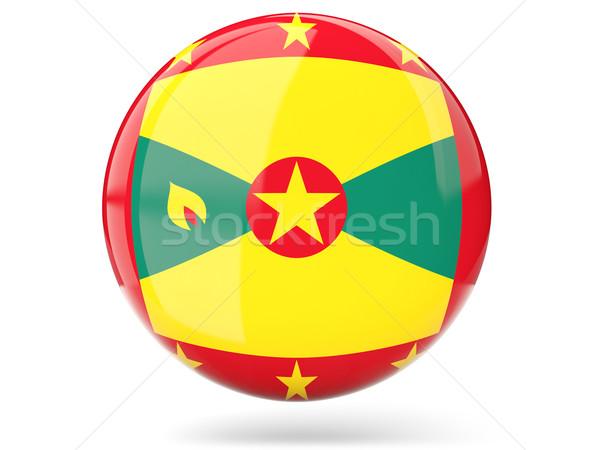 Stockfoto: Icon · vlag · Grenada · glanzend · wereld · teken