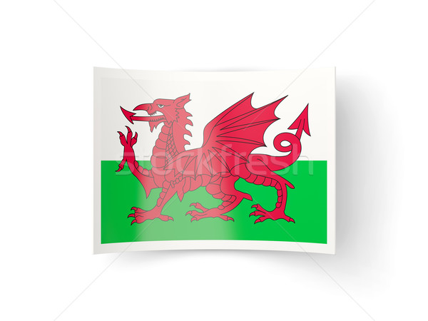 Bent icon with flag of wales Stock photo © MikhailMishchenko