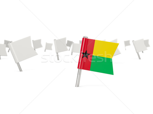 Square pin with flag of guinea bissau Stock photo © MikhailMishchenko