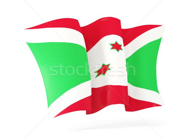 Vlag Boeroendi 3d illustration geïsoleerd witte Stockfoto © MikhailMishchenko