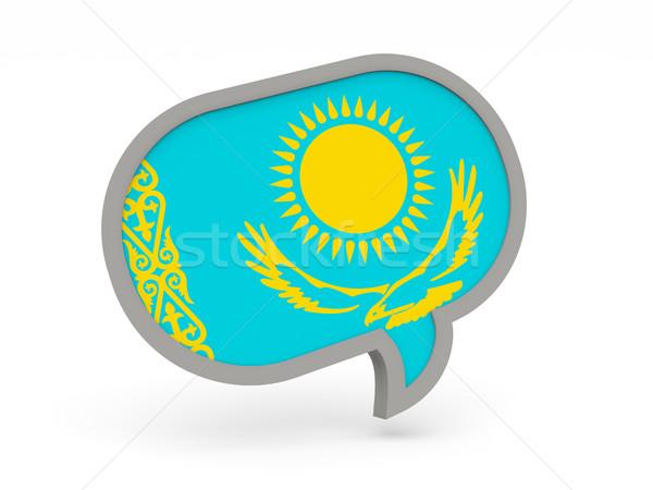 чате икона флаг Казахстан изолированный белый Сток-фото © MikhailMishchenko