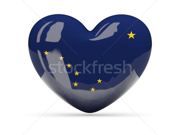 Flag of alaska, US state heart icon Stock photo © MikhailMishchenko