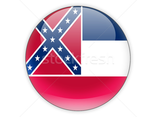 Flag of mississippi, US state icon Stock photo © MikhailMishchenko