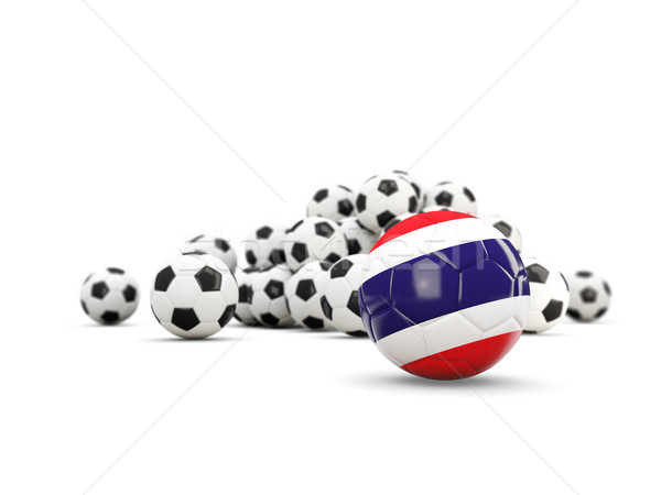 Voetbal vlag geïsoleerd witte 3d illustration reizen Stockfoto © MikhailMishchenko