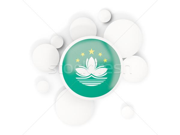 Round flag of macao with circles pattern Stock photo © MikhailMishchenko