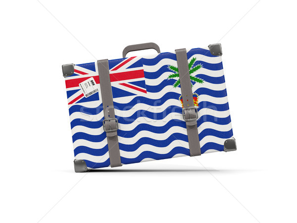 Luggage with flag of british indian ocean territory. Suitcase is Stock photo © MikhailMishchenko
