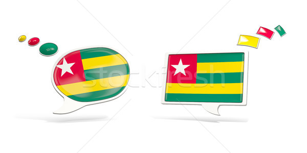 Two chat icons with flag of togo Stock photo © MikhailMishchenko