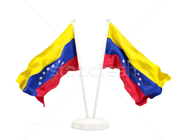 Two waving flags of venezuela Stock photo © MikhailMishchenko